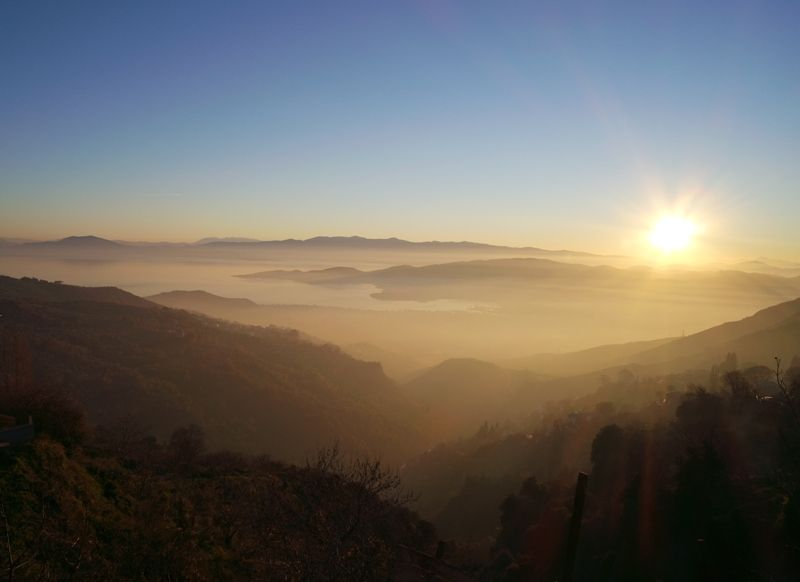 The incredible view from Makrinitsa village Pelion