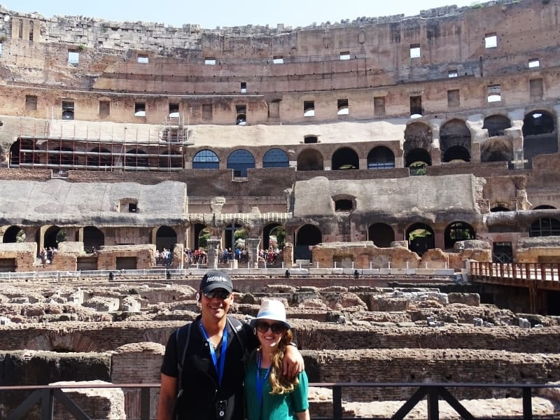 With my husband at the Colosseum
