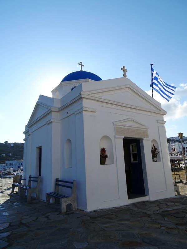 Agios Nikolaos church in Mykonos- things to do in mykonos town