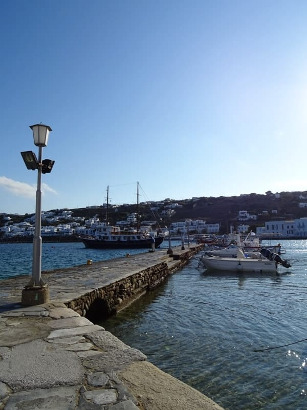 The old harbour of Mykonos-min