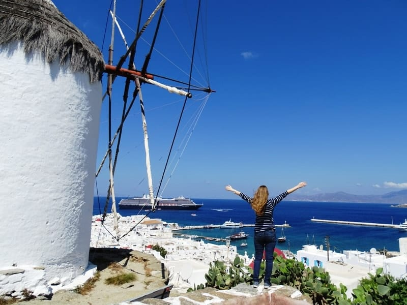 The view from the windmill of Boni in Mykonos - things to do in Mykonos