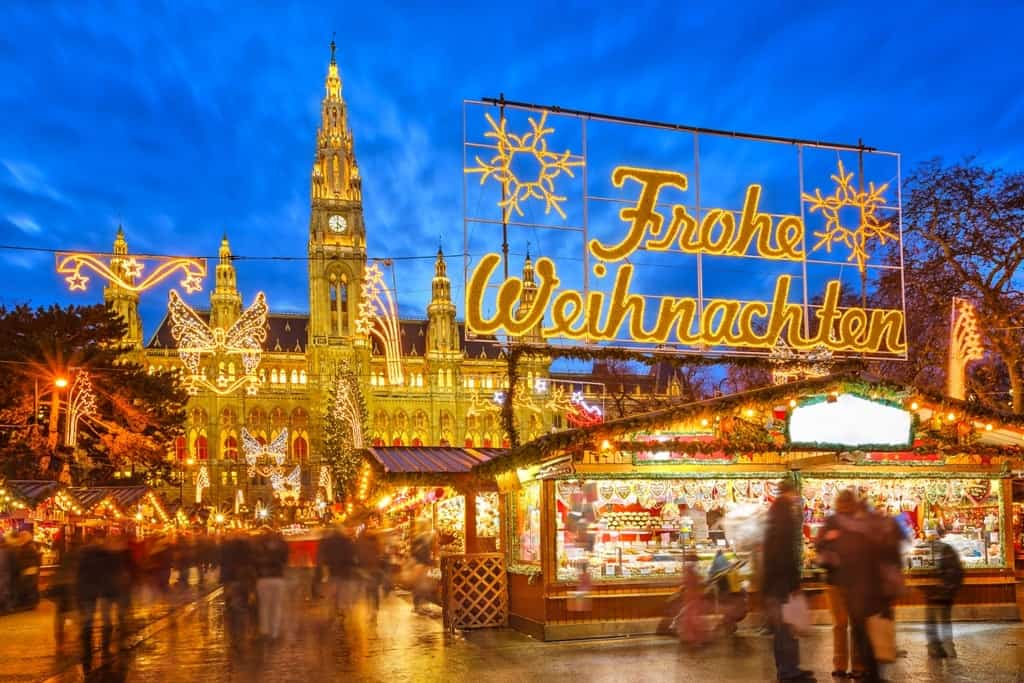 Traditional christmas market in Vienna -Christmas Markets in Austria
