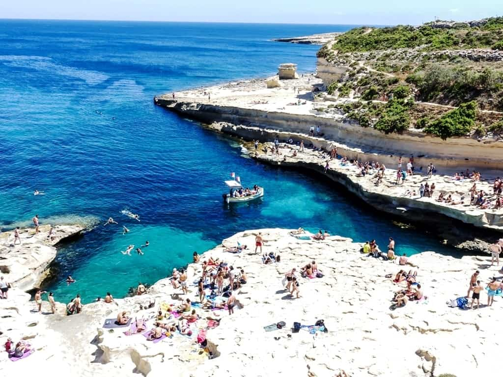 St Peter's Pool, Malta -The Best Mediterranean Beaches