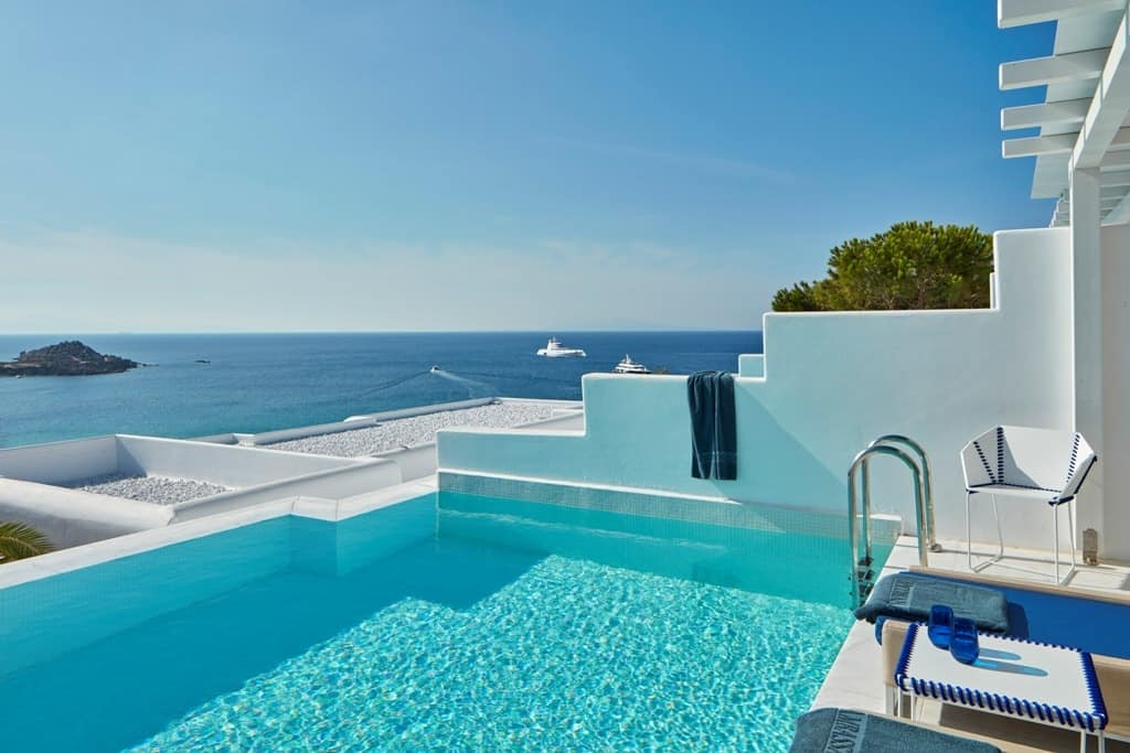Mykonos hotels with private pool