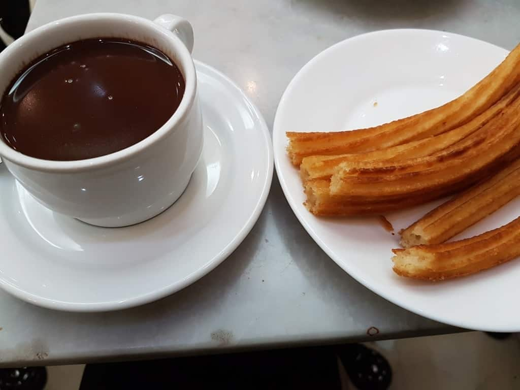 Churros in Chocolateria San Gines Madrid