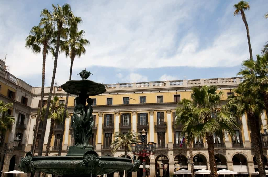 Plaza Real - Barcelona - Spain itinerary