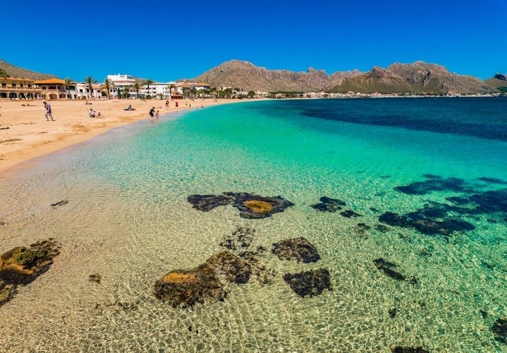 Port de Pollenca - beautiful beaches in Majorca