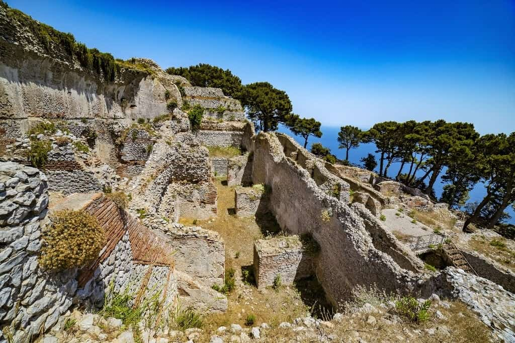Villa Jovis built by emperor Tiberius - things to do in Capri