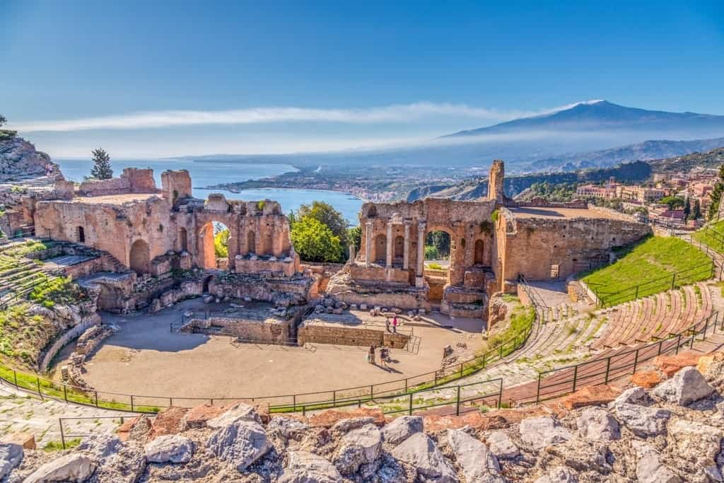Ancient Greek Theater in Taormina - sicily in winter itinerary