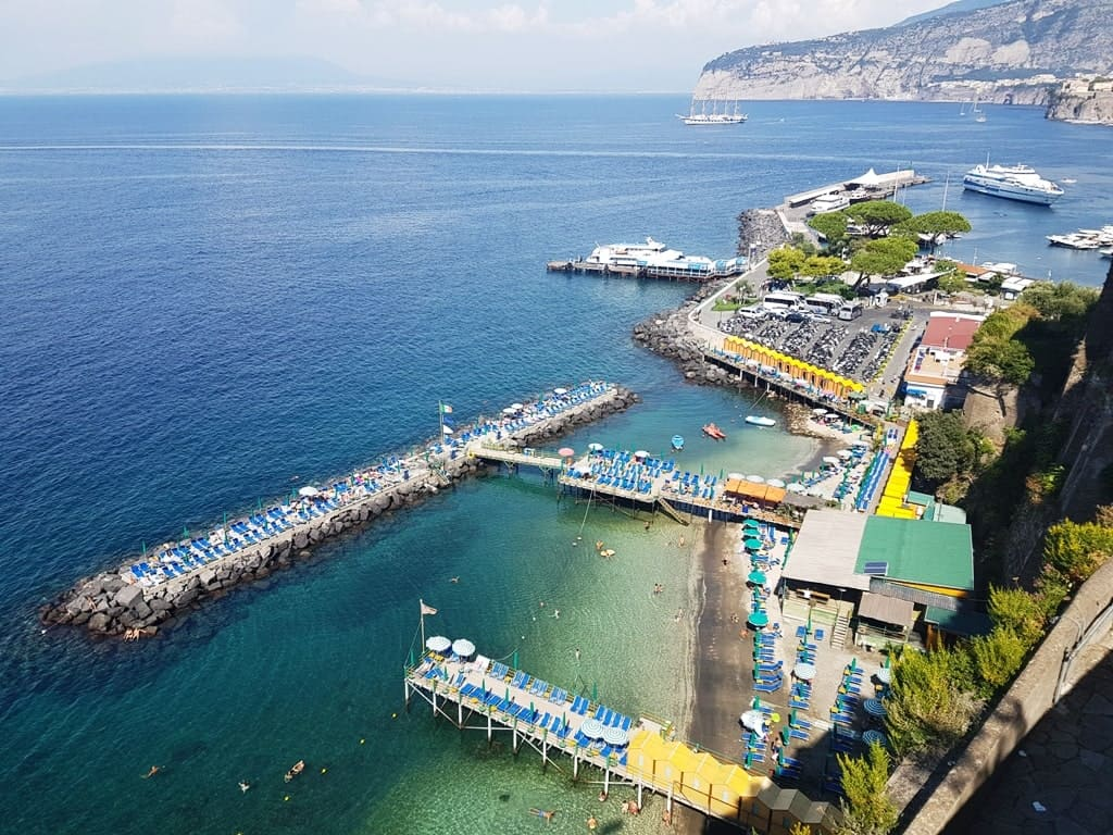 view from the Villa Comunale Park - things to do in Sorrento