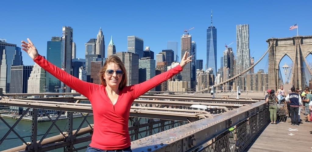 me in Brooklyn Bridge - 5 day New York itinerary