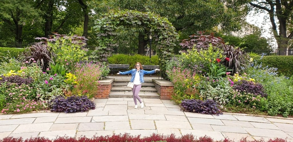 me in Central Park -Five day New York itinerary