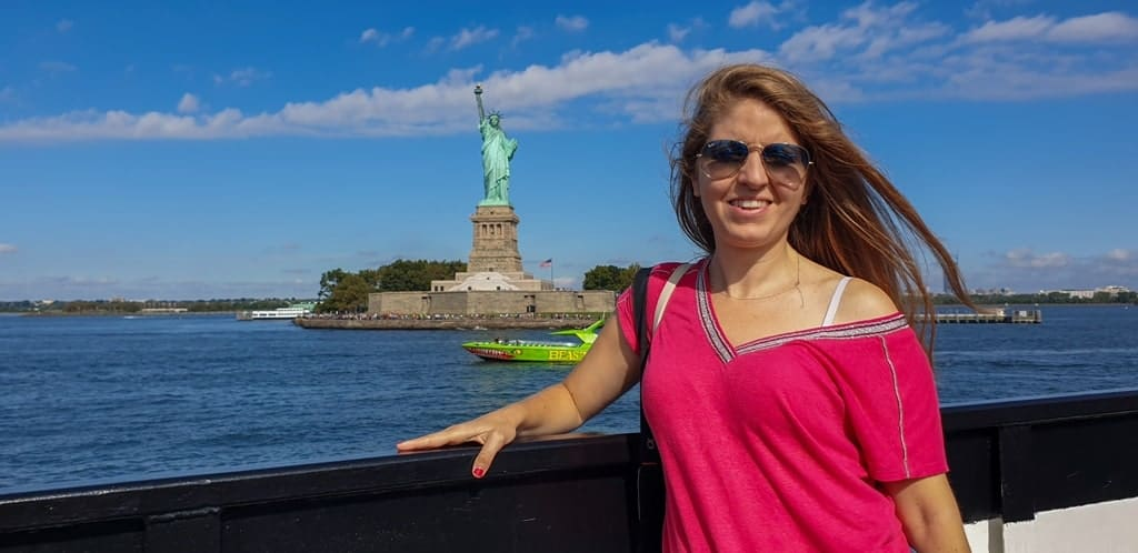 me in the Statue of Liberty - Five days in New York
