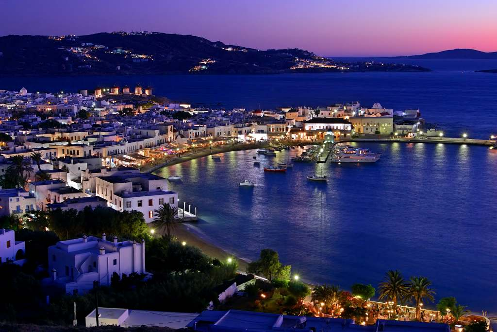 Mykonos is a party destination in Greece